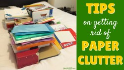 Great advice on dealing with paper clutter