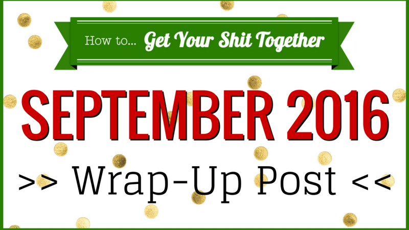 Here's what happened on the HowToGYST site, YouTube channel, and at home in September 2016