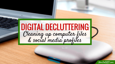 Digital decluttering of computer files & social media profiles. How to do a digital detox.