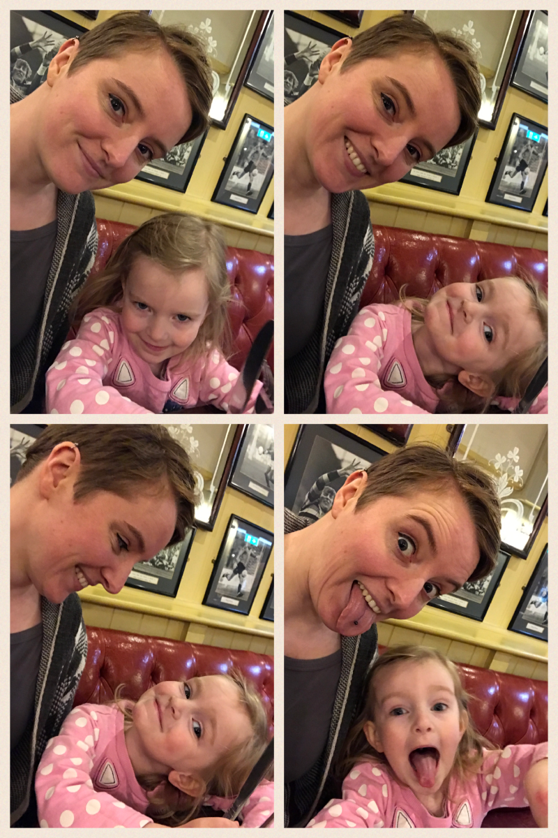 17 things I learned in 2017 – The Goat for lunch with Scout, silly faces