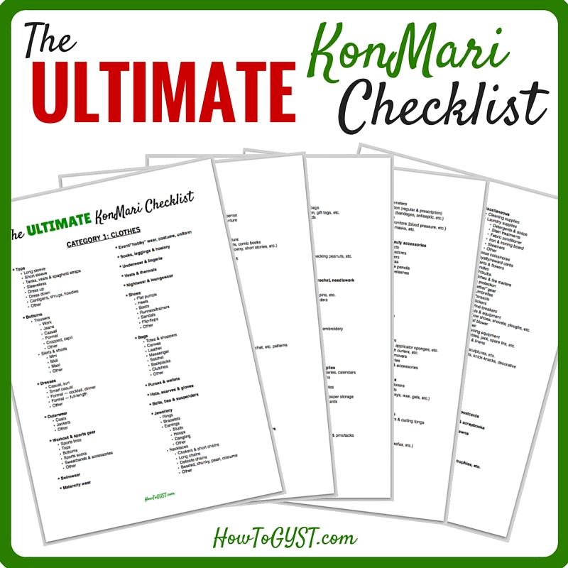 | KonMari Checklist