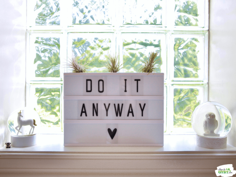 'Do It Anyway' lightbox | Motivational quote | Inspirational quote