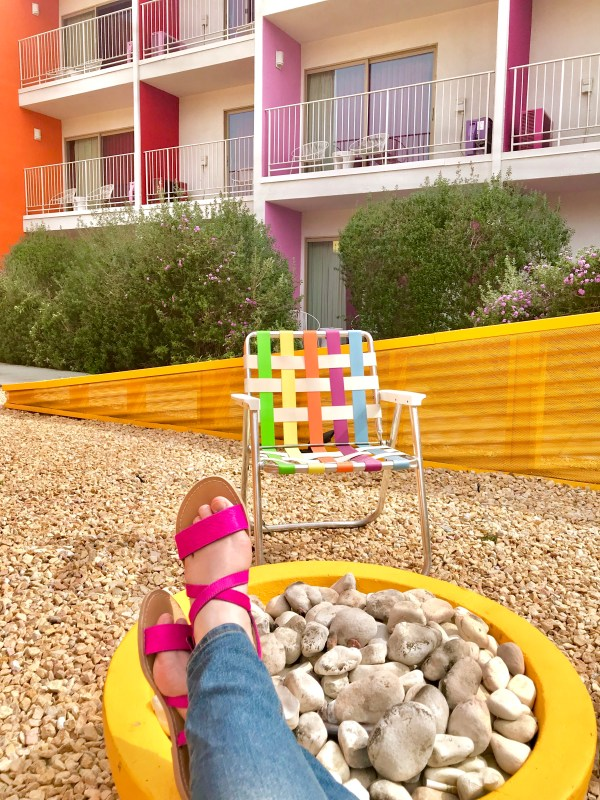 Feet Up At The Saguaro Hotel, Palm Springs