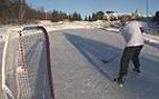 Hockey how to take a back hand