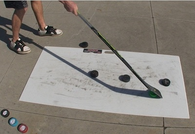 Most shooting pad for hockey