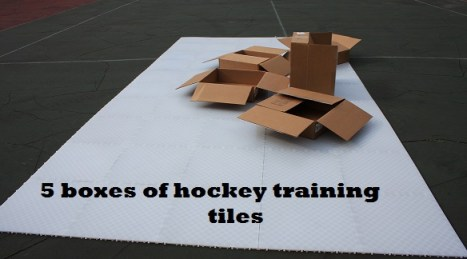 5 boxes of hockey training tiles