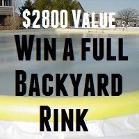 Win A $2800 Full Backyard Hockey Rink Kit with Boards – Winner chosen Nov 10th 2013