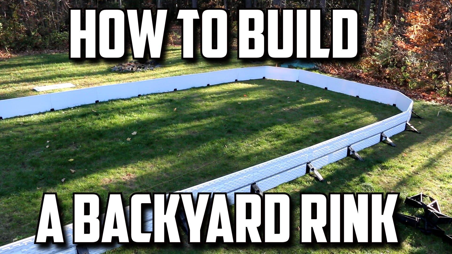 How to Build a Backyard Hockey Rink
