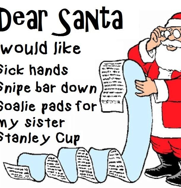 christmast list hockey players