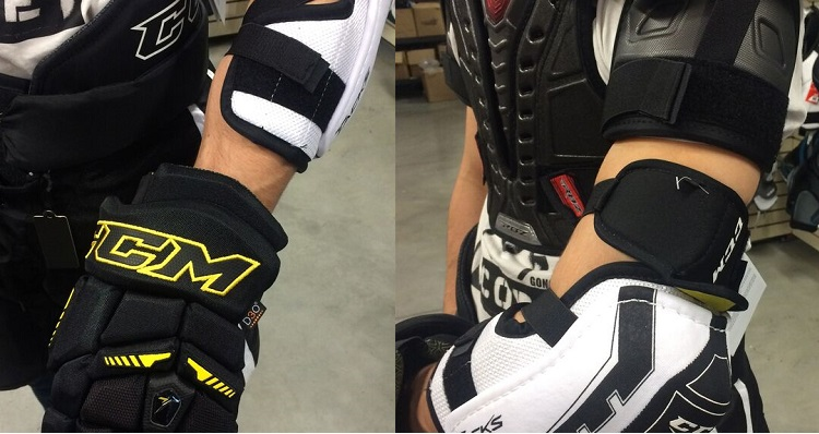 Elbow pad fit for hockey