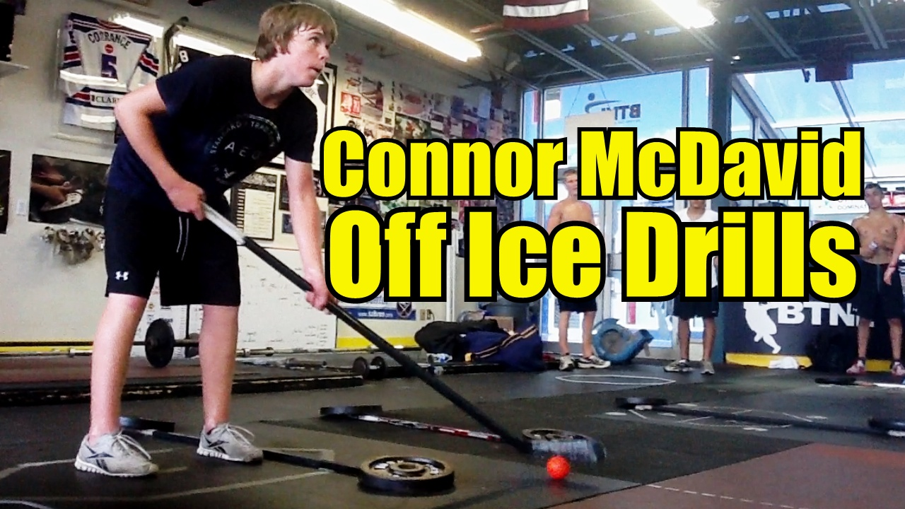 Connor McDavid Skating and Stickhandling Drills
