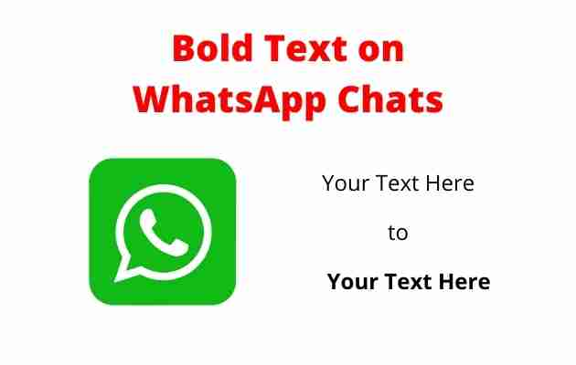 Bold Text on WhatsApp Chats