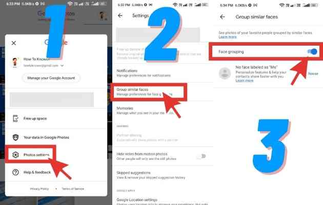 Steps to Activate Group Similar Faces on Google Photos on your Phone