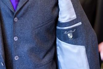 Жемчужно-серая подкладка к пуговицам из серого перламутра