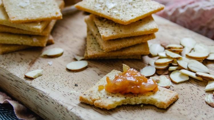 Irresistible Almond Parmesan Crackers