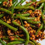 spicy sambal green beans with peanuts