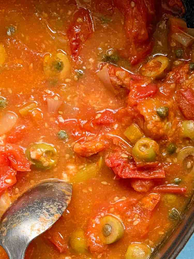 a pot of summer fish stew