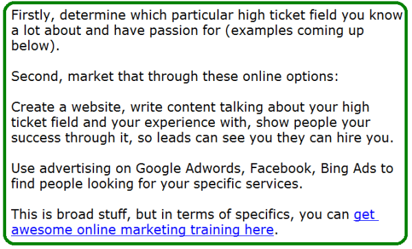 how to sell high ticket items online
