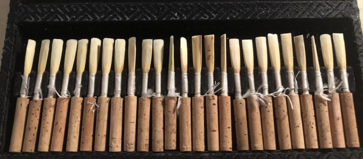 oboe reeds in my reed case, shown in reed response post.