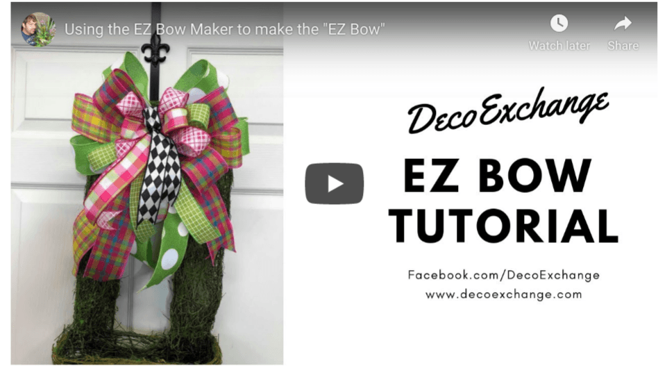 Three Quick Tutorials for the EZ Bow Maker