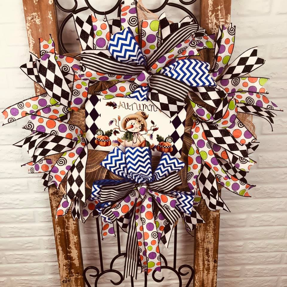 fall wreath from Deb R using the Pro Bow