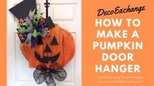 Pumpkin door hanger tutorial