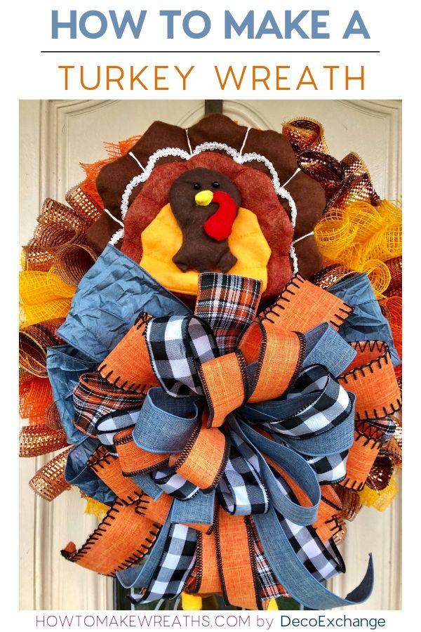 How to make a turkey wreath