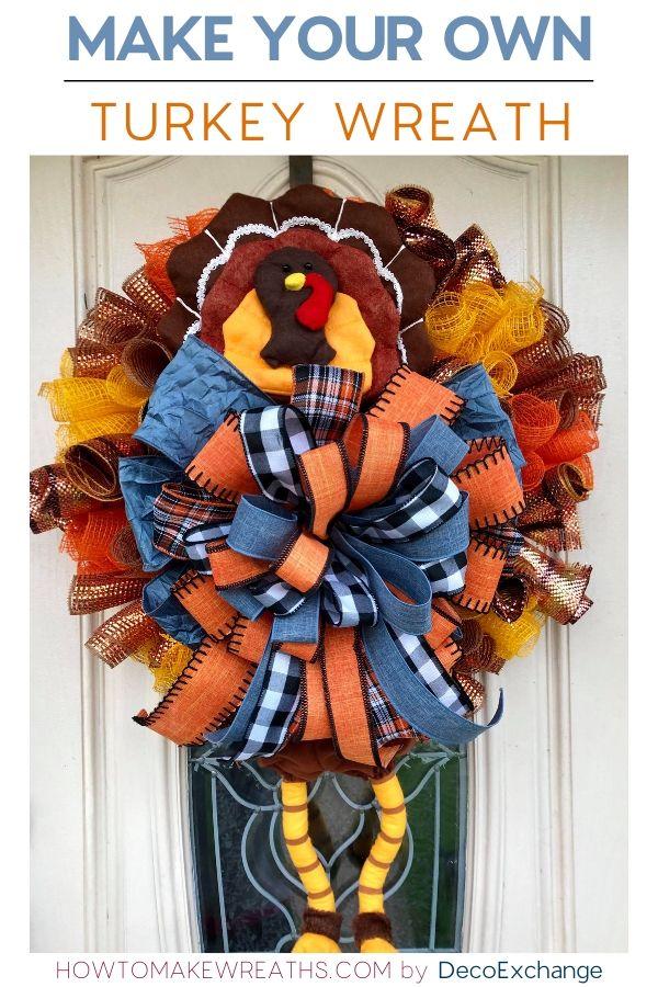 Make your own turkey wreath
