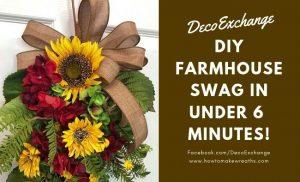 DIY Farmhouse Swag with Sunflowers