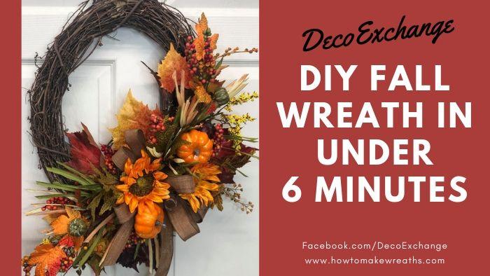 DIY Fall Wreath in Under 6 Minutes