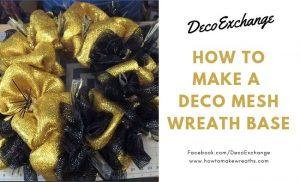 How to make a Mesh Wreath Base