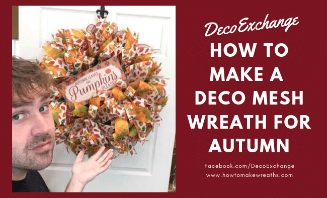 How To Make Deco Mesh Wreaths: Step by Step Instructions