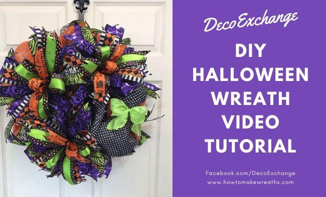 DIY Halloween Wreath – Video Tutorial