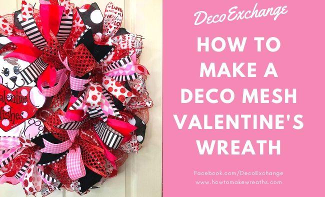 DIY Valentine's Wreath with Cute Puppy Attachment