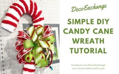 Simple DIY Candy Cane Wreath Tutorial