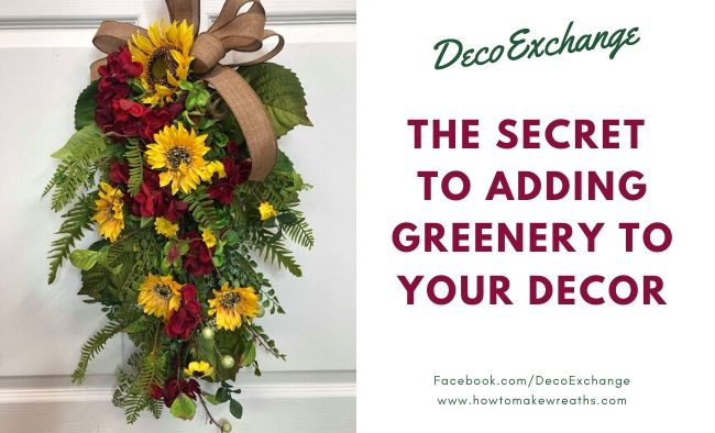 How To Add Greenery to a Wreath