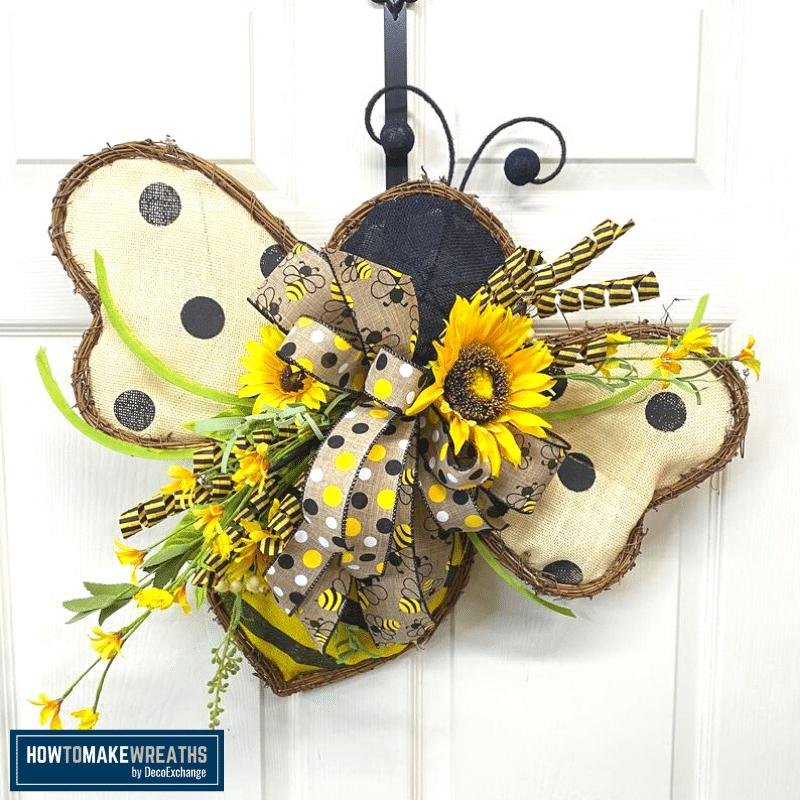 Bee and Sunflower wreath