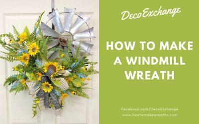 How to Make a Windmill Wreath {Cute DIY Windmill Decor}
