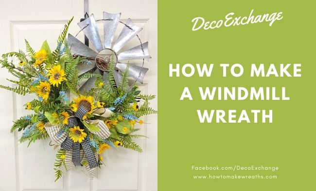 How to Make a Windmill Wreath {Cute DIY Windmill Decor}