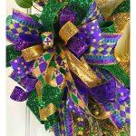 Mardi Gras Wreath Bow