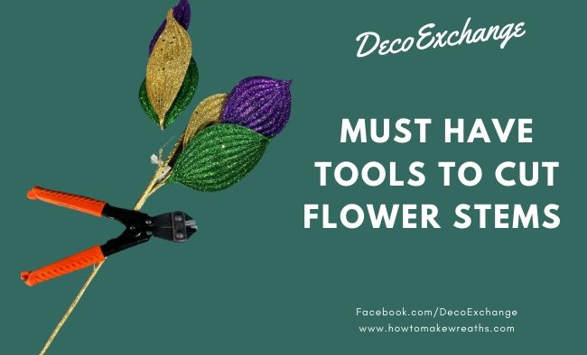 Must Have Tools to Cut Artificial Flower Stems