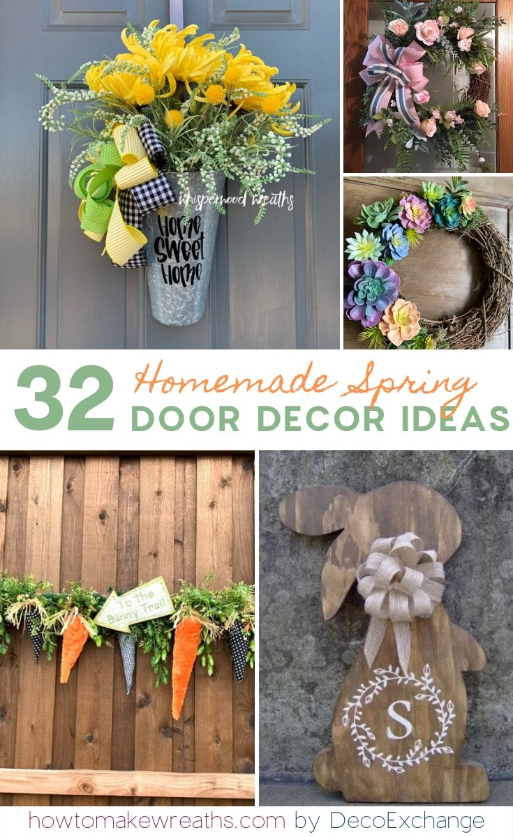 Homemade Spring Door Decor Ideas