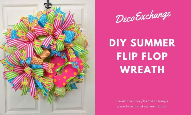 How to Make a Flip Flop Wreath