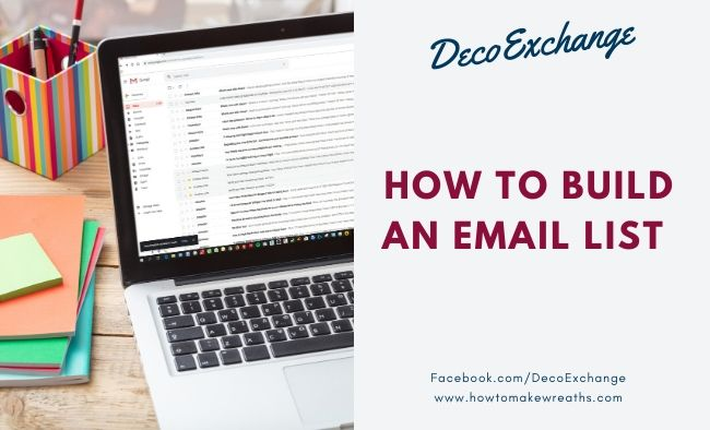 4 Ways to Build an Email List and Help Your Craft Business