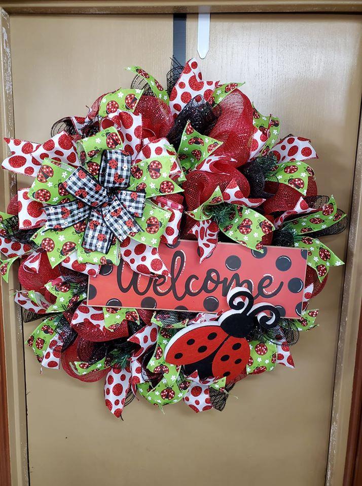 Lady Bug Wreath - Twiddle Bugz
