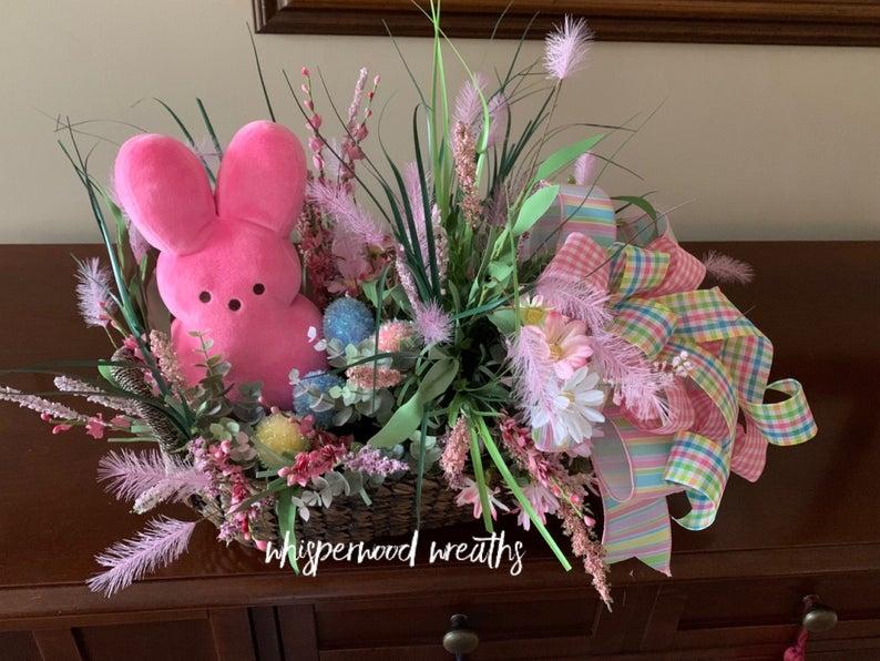 Sugar Bunny Centerpiece - Whisperwood Wreaths