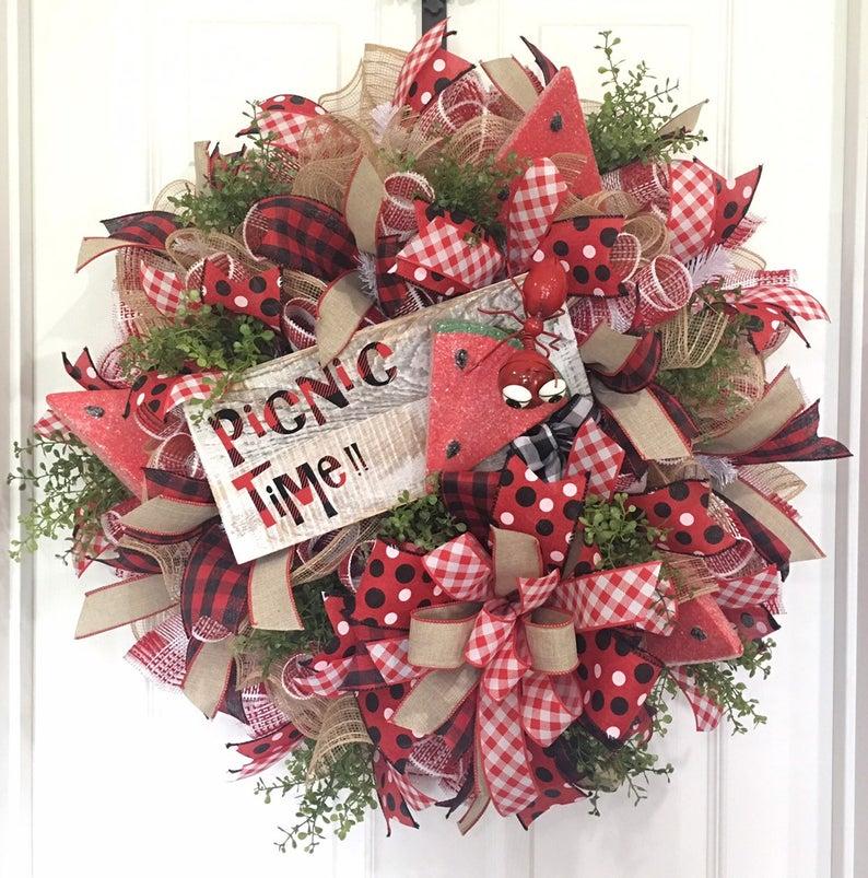 Watermelon Wreath by DeVine Creations by Mel
