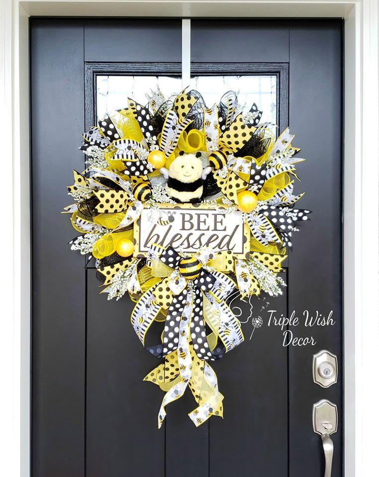 Triple Wish Decor Wreath