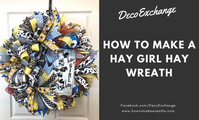 Cute Wreath Idea: How to Make a Hay Girl Hay Wreath