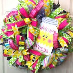 welcome peep wreath